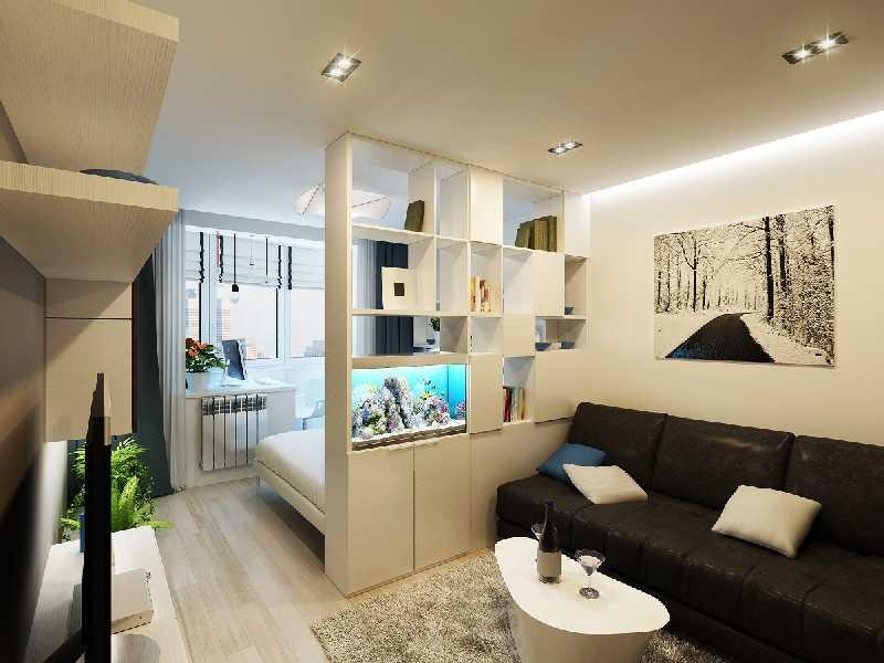 Дизайн однокомнатной квартиры комната 20 кв.м