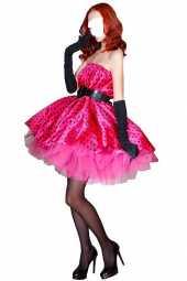 Посуточная аренда Карнавальный костюм СТИЛЯГА (розовая). В костюм входит: мини-платье расклешенное в горошек, подъюбник, пояс в Благовещенске