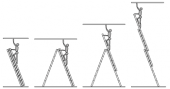 Посуточная аренда Лестница раскладная трехсекционная 3x14, рабочая высота - 10,73м в Астрахани