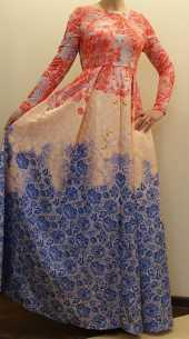 Посуточная аренда Живописное платье в пол.Размер S  в Чите