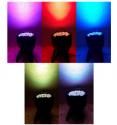 Посуточная аренда Светодиодный моноцветный прожектор заливного света  LED PAR   Светодиоды: 54х3W   65000 оттенков всех цветов  Управление по DMX с пульта или в автономном режиме в Иркутске