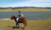 Почасовая аренда Лошадки вдоль берега Байкала по безлюдным степным просторам в Иркутске