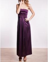 Посуточная аренда Атласное платье с украшенным бисером поясом в Омске