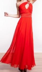 Посуточная аренда Платье макси яркого алого цвета с вырезом на спине в Омске