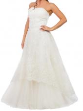 Посуточная аренда Свадебное платье цвета айвори с золотой вышивкой. Размер: M/L в Екатеринбурге