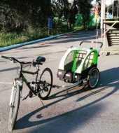 Почасовая аренда Велосипед с детским велоприцепом Весовое ограничение 40 кг в Кызыле