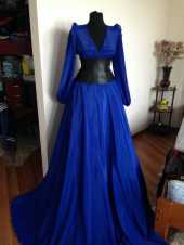 Посуточная аренда Красивое синее платье в пол.Размеры - 42-46. Залог 5000руб. в Брянске