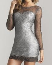 Посуточная аренда Серое платье 032 Сумма залога: 12000 руб Размер-44 в Пскове