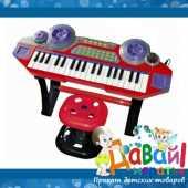 Долгосрочная аренда Синтезатор детский ДиДжей (синий). Играя на синтезаторе, ребенок не только постигает основы музыкальной грамоты, но и получает массу радости и веселых впечатлений в Кургане