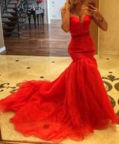 "Посуточная аренда Платье ""Red silhouette"".Размер 42-44 в Самаре"