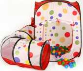 Долгосрочная аренда Палатка игровая с туннелем+200 шаров.Ширина 110 см, Длина 260 см, Высота 100 см в Саратове