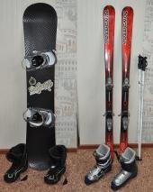 Посуточная аренда Горные лыжи/сноуборд (комплект: лыжи/борд+ботинки, палки) в Перми