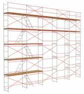 Посуточная аренда Рамные строительные леса ЛСРП 200 (ЛСРП 40) для работ, в основном, на фасадах зданий в Пензе