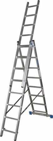 Посуточная аренда Лестница 3-х секционная (7,32 м).Количество ступеней в каждой секции: 11  Материал: алюминий анодированный в Иваново