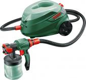 Посуточная аренда Система краскораспыления Bosch PFS 105 E WALLPaint.Номинальная потребляемая мощность - 375 Вт    Производительность  200 – 350 г/мин    Энергия распыления - 120 Вт    Нанесение краски - 5 м? за 3 мин.    Объем контейнера - 1.000 мл    Масса - 5,2 кг в Иваново