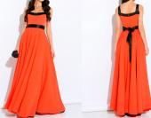Посуточная аренда Шикарное длинное оранж.платье с подъюбником.Размер: 44-46. Залог: 1000 рублей в Горно-Алтайске