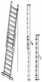 Посуточная аренда Приставная разборная лестница. Грузоподъемность собранной и прикрепленной   к опоре лестницы, кг.: 100   Общая высота, м.: 6-10   Количество секций, шт.: 3-5   Высота секции, м.: 2   Масса, кг.: 20-30 в Вологде