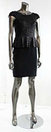 Посуточная аренда Маленькое черное платье, изюминка которого  баска и вышивка пайеток. Верх и баска полностью из пайеток. Эластичная ткань в Ростове-на-Дону