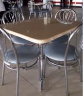 Посуточная аренда Стол. Размеры стола:  80х80 см   Цвет:  бежевый глянец в Екатеринбурге