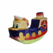 Долгосрочная аренда Утенок - пароход мягкое кресло качалка. Широкая, устойчивая. на носик (корму) можно складывать игрушки, есть штурвал (не крутится) в Кургане
